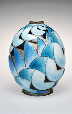 Art Deco Vase, 1930-39 by Camille FAURÉ (French, 1874-1956) - Signature 'C. FAURE Limoges' - The Corning Museum of Glass