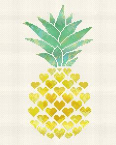 Pineapple cross stitch pattern Modern cross stitch Tropical Aloha cross stitch Hearts embroidery Pineapple lover x-stitch Welcome sign PDF Ananas-Kreuzstichmuster Moderner Kreuzstich Tropical Cross Stitch Bookmarks, Cross Stitch Heart, Cross Stitch Flowers, Counted Cross Stitch Patterns, Cross Stitch Embroidery, Embroidery Patterns, Embroidery Hearts, Cactus Cross Stitch, Cross Stitch Fruit