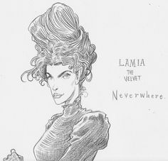 Neverwhere character sketchChris Riddell