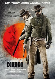 Django Unchained , starring Jamie Foxx, Christoph Waltz, Leonardo DiCaprio, Kerry Washington. With the help of a German bounty hunter, a freed slave sets out to rescue his wife from a brutal Mississippi plantation owner. #Adventure #Drama #Western