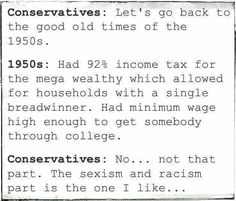 Let's go back to the 1950s...