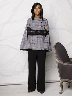 """Shonda Rhimes recently admitted to us that she's """"not really that much of a fashionista."""" So how then, did Scandal's Olivia Pope become such a style icon in her three years on the small screen? Olivia Pope Wardrobe, Olivia Pope Outfits, Olivia Pope Style, Work Fashion, Fashion Outfits, Fashion Trends, Scandal Fashion, Jessica Parker, Work Attire"""