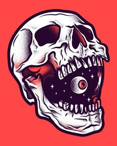 Afbeeldingsresultaat voor illustration skull