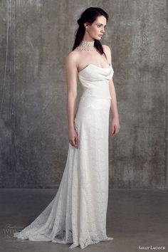 sally lacock bridal separates 2014 mint strapless top cowl neck bodice mace skirt