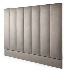 Strauss boasts a series of generously padded vertical flutes which provide a striking and opulent design visual. This fully upholstered headboard can be used with your existing bed or any of the beds from our range. Available in a variety of sizes. Bed Headboard Design, Bed Frame And Headboard, Bedroom Bed Design, Headboards For Beds, King Size Headboard, Wall Behind Bed, Bed Wall, Modern Luxury Bedroom, Luxurious Bedrooms