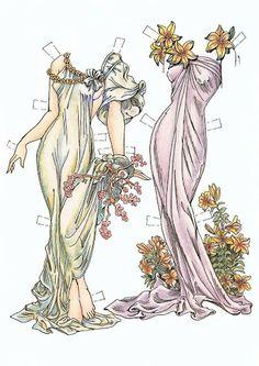 Paper Dolls In THe Style Of Mucha by Charles Ventura - Papírbabák Alfons Mucha stílusában - Maria Varga - Álbumes web de Picasa