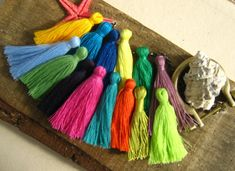 Cotton Tassels for Jewelry and Accessories  We love tassels! They are so bohemian and so artistic. They are such a versatile accessory to use for
