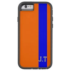 Stylish Orange and Blue Monogram Tough Xtreme iPhone 6 Case