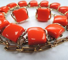 60s Coro Mad Men Vintage Lucite Necklace Earrings by FireflyRetro