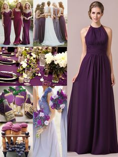 Grape bridesmaid dress,the 2016 most popular bridesmaid dress color. #JJsHouse #JJsHouseBridesmaidDress #GrapeBridesmaidDress