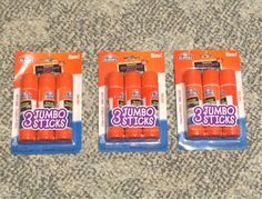 Free: 3 Packs of 3 JUMBO GLUE STICKS - Scrapbooking & Paper Crafts - Listia.com Auctions for Free Stuff