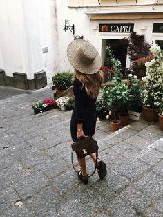 Strolling in an elegant little town in Europe