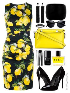 """""""Positano"""" by teryblueberry ❤ liked on Polyvore featuring Dolce&Gabbana, Fendi, Tom Ford, Alexander McQueen, Illamasqua, Rodin, Chanel, women's clothing, women and female"""