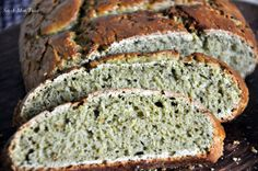 Whole Wheat and pesto bread. Perfect for breakfast with eggs or with curries for…