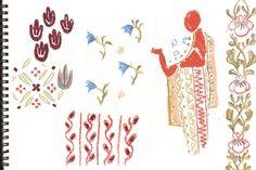 On paper : the many patterns of Sri Lanka #patterns #srilanka #drawings #pastels