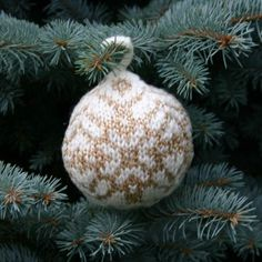 "Free knitting pattern for this Christmas Ball, ""Star of Bethlehem"", can be found on my knitting blog, Twostrands.com.  Yarn for the pattern can be purchased in my on-line yarn shop, Kidsknits.com (for ""kids"" of ALL ages!)   HAVE FUN!! - Mary Ann Stephens"