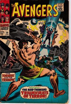 Avengers #39 (1963 1st Series)  April 1967  Marvel Comics Grade VG