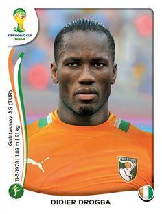 240 Didier Drogba - Costa de Marfil - MUNDIAL BRASIL 2014