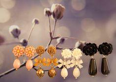Oorringen maken met roosjes en strikjes