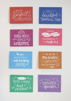 Leslie Knope Compliments Hand Lettered by TallestTreeShop on Etsy