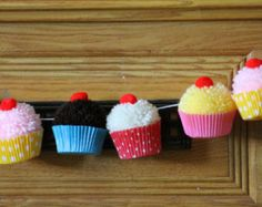 Cupcake Birthday Party | Cupcake PomPom Garland | Christmas ornaments!
