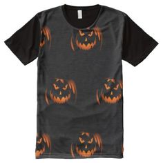 #Men's Halloween T-Shirt Black with Jack O'Lanterns - #Halloween happy halloween #festival #party #holiday