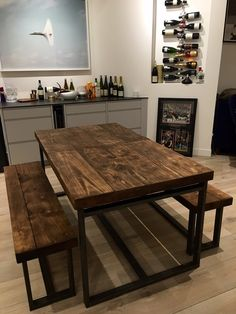 Reclaimed Industrial Sleeper Seater Dining Table Bar Cafe - 12 seater solid wood dining table