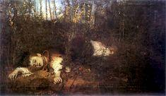 (Leon Wyczółkowski 1852-1936 - Alina, ca 1880 (theme from the tragedy Balladyna by Juliusz Słowacki)