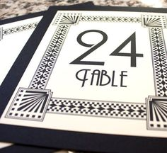 Art Deco Signs | Art Deco Table Numbers Wedding Decor Sign Custom Great Gatsby Roaring ...