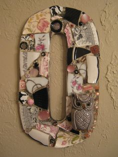 Mosaic Letter O in Pink and Black Featuring an by kellylynnaaron, $62.00