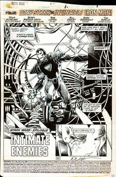 page 1 from Iron Man (1968) #232 by Barry Windsor-Smith, Bob Layton, David Michelinie and Bill Oakley