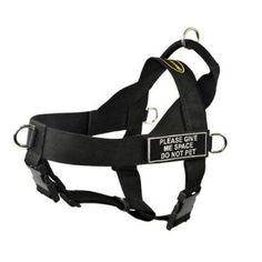 DT Universal No Pull Dog Harness, Please Give Me Space Do Not Pet, Black, Large, Fits Girth Size: 31-Inch to 42-Inch