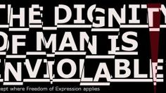 freedom of expression vs dignity of man