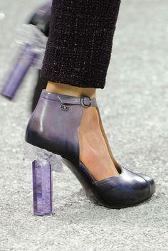 Chanel - LOVE the rock crystal heels!    Fall 2012