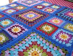 For the Love of Crochet Along: Daisy Granny Square Blanket