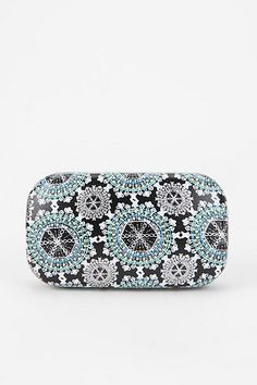 Printed Contact Lens Case - Black & White