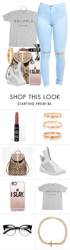"""Untitled #852"" by cjasmyne ❤ liked on Polyvore featuring NYX, Cartier, Coach, Puma, Casetify, ZeroUV and ASOS"
