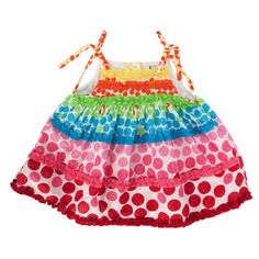Rare Editions Infant Girl Ombre Polkadot Dress and Bloomers