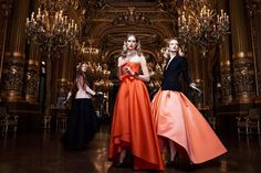 A NIGHT AT THE OPÉRA GARNIER, PARIS.   We love this sumptuous shoot by Willy Vanderperre for Dior RTW Fal...