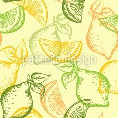 Lemons And Limes Pattern Design by Natalia Patrashchuk at patterndesigns.com
