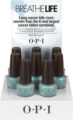 OPI Breathe Life Nail Lacquer supports the Lung Cancer Foundation of America.