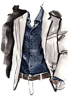 Nick Graham fashion illustration