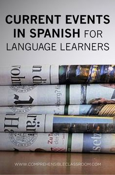 nice Weekly news stories in Spanish delivered to your inbox–news summaries from the Spanish speaking world. Perfect for Spanish students and language learners! Ap Spanish, Spanish Culture, Spanish Lessons, How To Speak Spanish, French Lessons, Spanish Projects, Spanish Alphabet, Spanish Teaching Resources, Spanish Activities