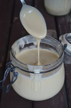 Gormandize: Vegan Condensed Milk Ingredients 3 cans coconut cream cup liquid palm sugar Wonder if it'd be good in my coffee or in Thai tea. Vegan Sauces, Vegan Foods, Fit Foods, Vegan Treats, Vegan Desserts, Dairy Free Recipes, Vegan Gluten Free, Thm Recipes, Drink Recipes