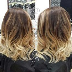 The ombre hair and the short hairstyles are the hottest topics in this year! You can see the ombre hair everywhere now. Ombre hair is trendy, modern, and. Hair Color And Cut, Ombre Hair Color, Ombre Style, Shatush Hair, Medium Hair Styles, Curly Hair Styles, Ombré Hair, Blonde Hair, Great Hair