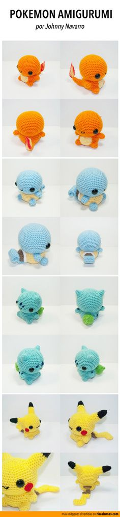 Great Pic amigurumi pokemon Popular This start associated with the Vintage Miffy Amigurumi Crochet Kit and XL Miffy Amigurumi Crochet Kit spotted Stitch & Crochet Pokemon, Kawaii Crochet, Cute Crochet, Crochet Crafts, Crochet Dolls, Yarn Crafts, Funny Crochet, Yarn Projects, Knitting Projects
