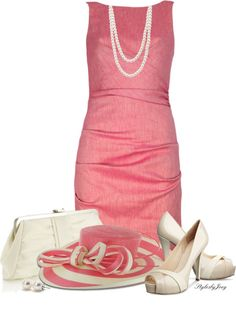 Pretty spring dress, minus the hat, unless I'm going to the Kentucky Derby
