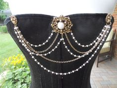 Antique Gold and Seed Pearl Bodice Adornment