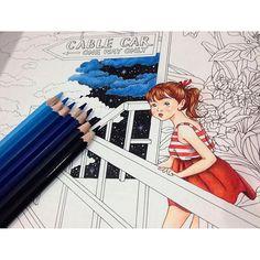 Instagram media january_toy - #adultcoloringbook #coloringbook #dariasong #TheTimeGarden