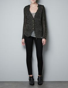 OPEN-WORK CARDIGAN WITH GOLD APPLIQUÉS - Woman - New this week - ZARA United States